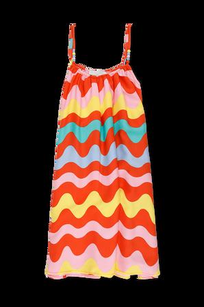 גילאי 2-14 שמלת ספגטי צבעונית STELLA McCARTNEY KIDS