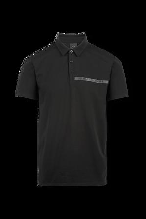 Slim Fit Logo Polo in Black ARMANI EXCHANGE