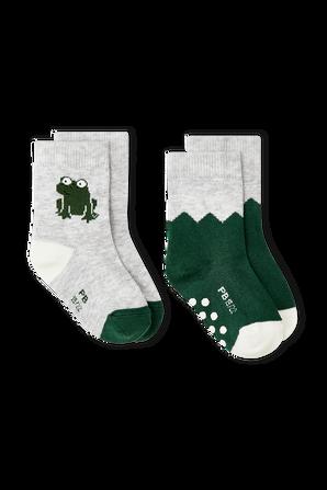 גילאי 3-36 חודשים סט שני זוגות גרביים ירוקים PETIT BATEAU