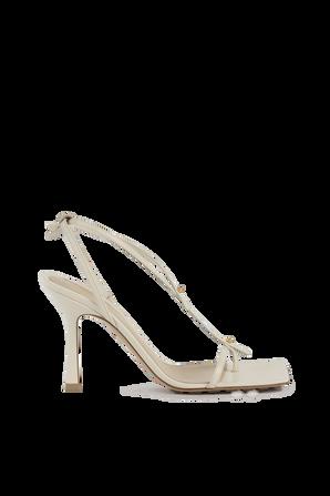 Stretch Sandals in White BOTTEGA VENETA