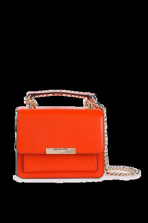 Jade XS Leather Crossbody Bag in Clementine MICHAEL KORS