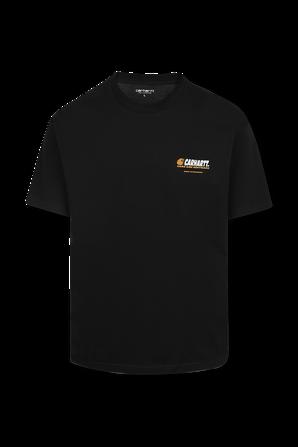 חולצה טי עם לוגו בגב בצבע שחור CARHARTT WIP