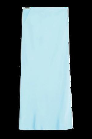 La Jupe Notte Midi Skirt in Light Blue JACQUEMUS