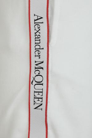 Side Branding Organic Jersey Shorts in White ALEXANDER MCQUEEN
