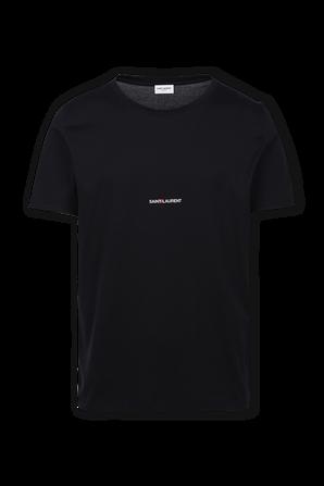Logo T-Shirt In Black SAINT LAURENT