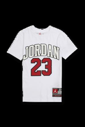 גילאי 8-16 חולצת לוגו 23 בלבן JORDAN