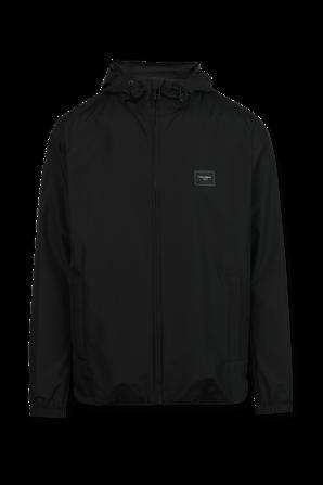 Classic Nylon Hooded Coat in Black DOLCE & GABBANA