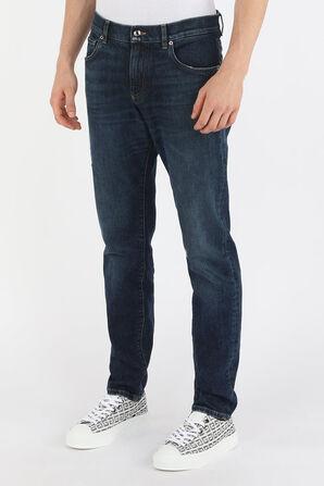 Slim Denim Pants With Logo Tag in Dark Wash DOLCE & GABBANA