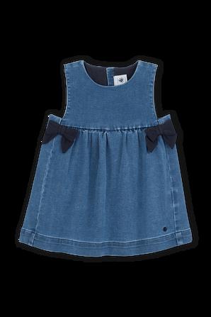 גילאי 18-36 חודשים שמלת ג'ינס PETIT BATEAU