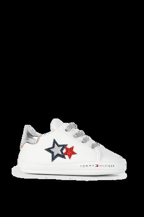 מידות 17-19 נעלי תינוקות עם עיטור כוכבים TOMMY HILFIGER KIDS
