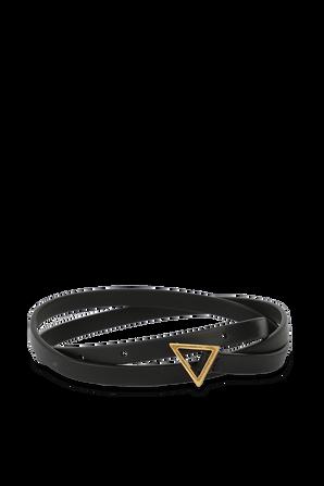 Triangle Leather Belt in Black BOTTEGA VENETA
