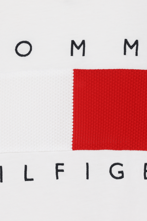 Flag T-Shirt in White TOMMY HILFIGER