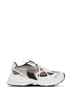 Marathon Sneakers in White and Orange AXEL ARIGATO