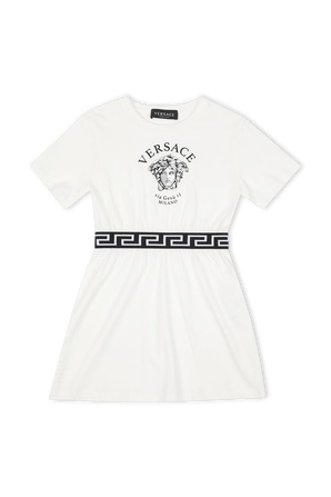 גילאי 4-6 שמלת מדוזה עם דיטייל לוגו בגומי VERSACE KIDS