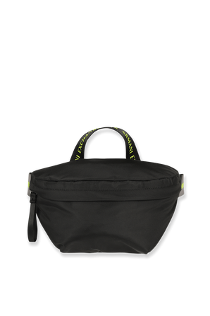 Logo Belt Bag in Black and Neon ARMANI EXCHANGE