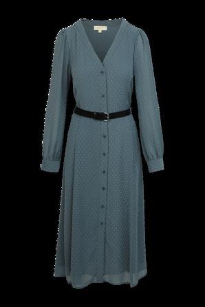 Crinkle Dots Kate Maxi Dress in Blue MICHAEL KORS