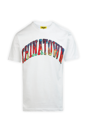 Watercolor Logo T-Shirt in White CHINATOWN MARKET