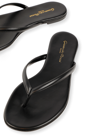 Calypso Flat Shoes in Black GIANVITO ROSSI