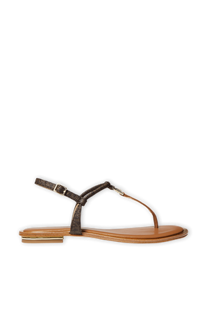 Glitter Chain-Mesh Sandal in Brown MICHAEL KORS