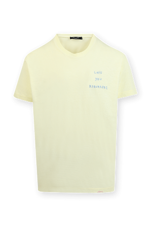 Love You D2 T-Shirt in Yellow DSQUARED2