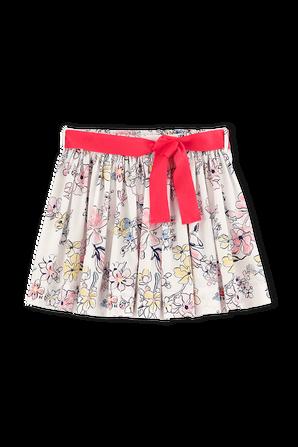 גילאי 6-12 חצאית הדפס צבעי מים פסטליים PETIT BATEAU